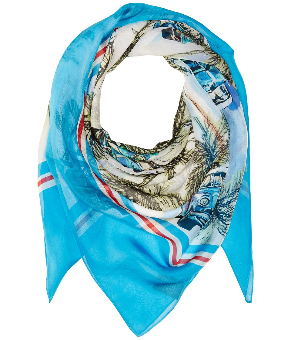 Vince Camuto - Cuban Car Square (Blue) Scarves