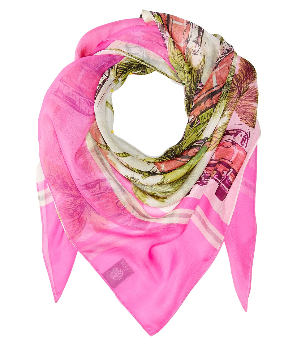 Vince Camuto - Cuban Car Square (Pink) Scarves