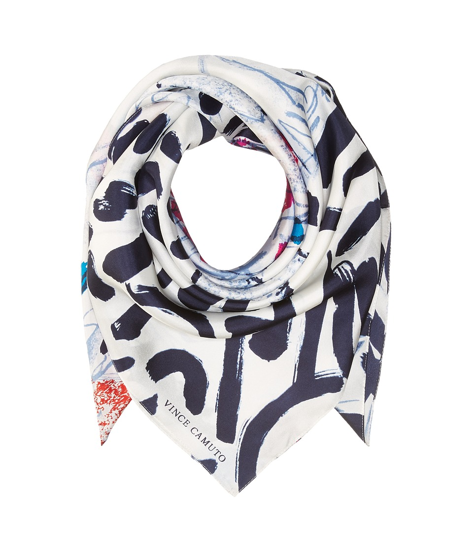 Vince Camuto - Abstract Mural Square (Pink/Blue) Scarves