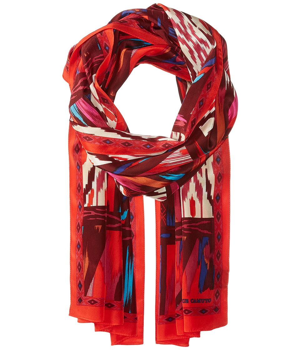 Vince Camuto - Tribal Slice Oblong (Red/Pink) Scarves