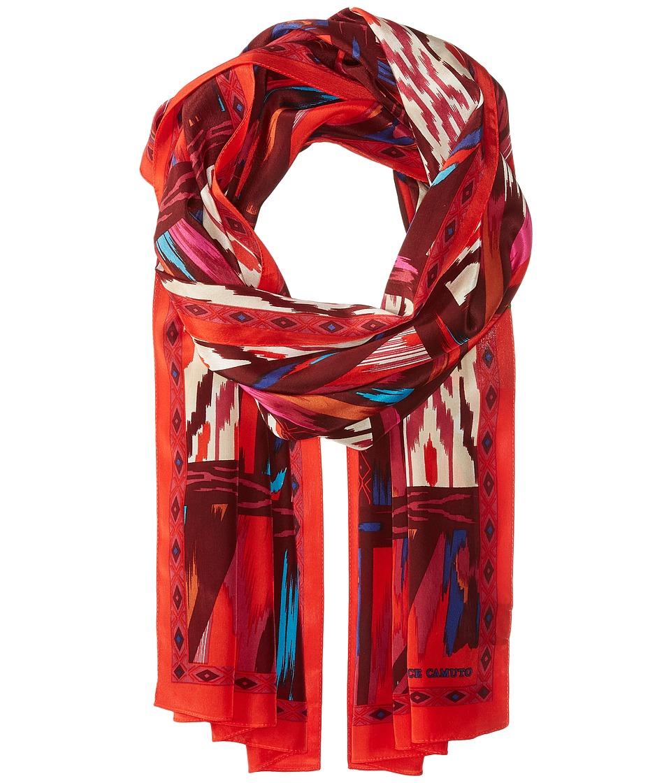 Vince Camuto - Tribal Slice Oblong (Red/Pink) Scarves