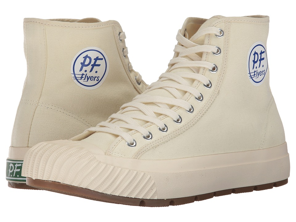 PF Flyers - Grounder Hi (Natural Canvas) Men's Lace up casual Shoes