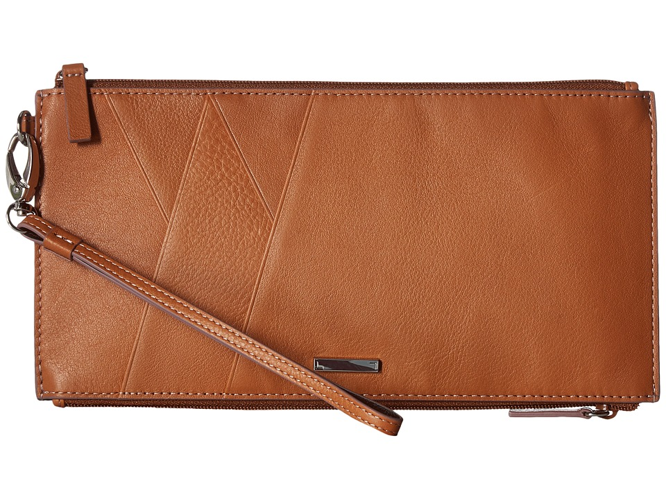 Lodis Accessories - Mill Valley Under Lock Key Kai Double Zip Pouch with Wristlet (Toffee) Travel Pouch