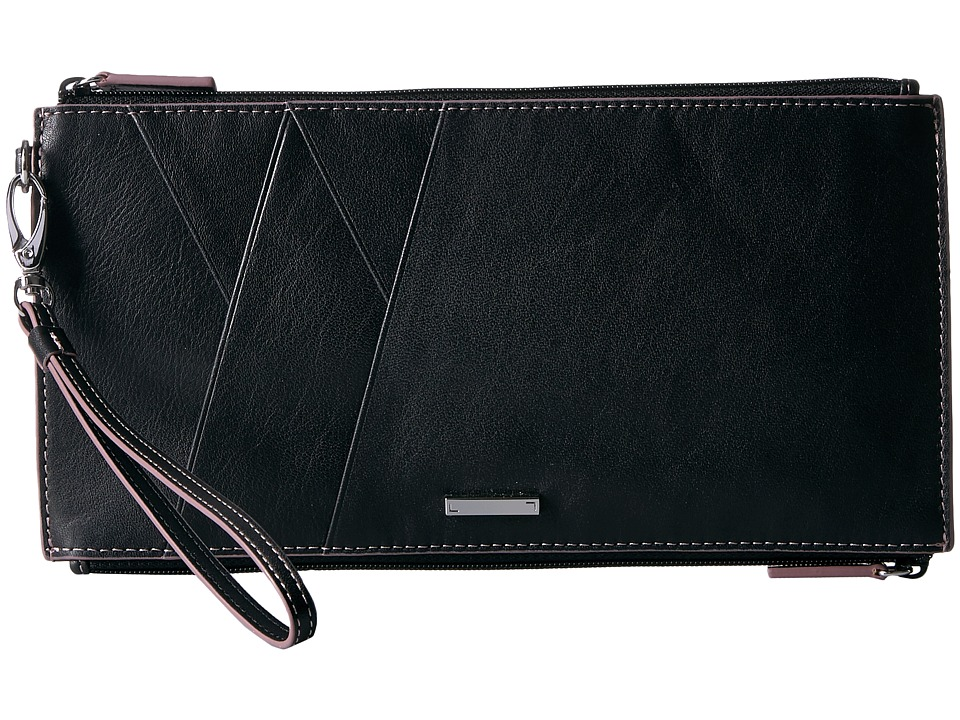 Lodis Accessories - Mill Valley Under Lock Key Kai Double Zip Pouch with Wristlet (Black) Travel Pouch