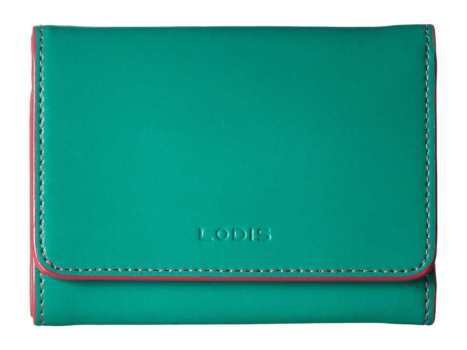 Lodis Accessories - Audrey Mallory French Purse (Green/Azalea) Wallet Handbags