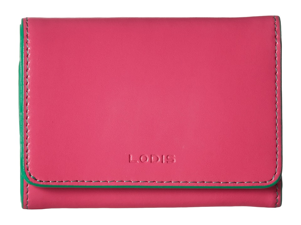 Lodis Accessories - Audrey Mallory French Purse (Azalea/Green) Wallet Handbags