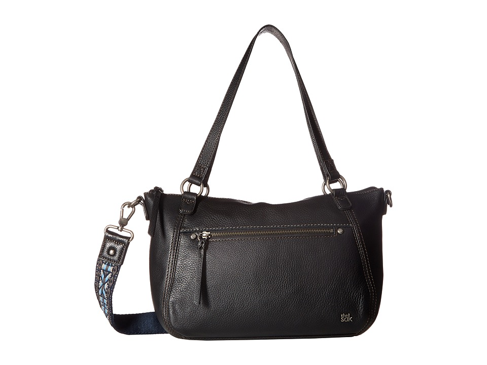 The Sak - Lucia Leather Satchel (Black) Satchel Handbags