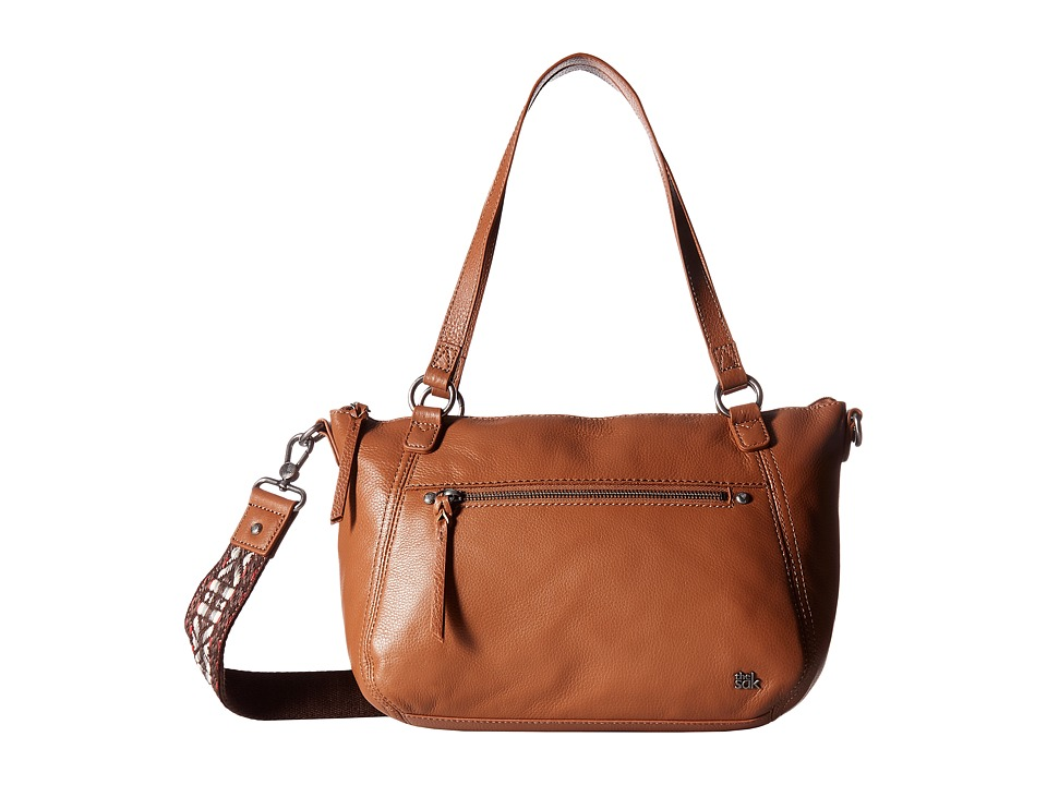 The Sak - Lucia Leather Satchel (Tobacco) Satchel Handbags