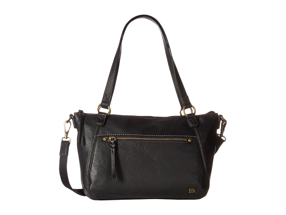 The Sak - Carson Leather Satchel (Black) Satchel Handbags