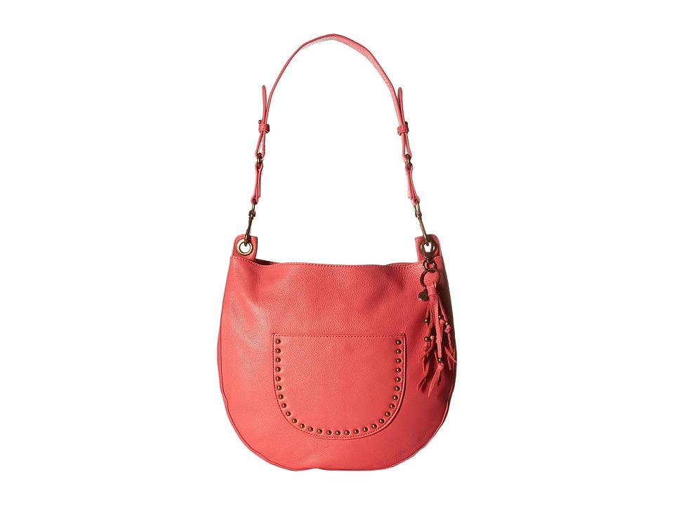The Sak - Zinnia Leather Hobo (Coral) Hobo Handbags