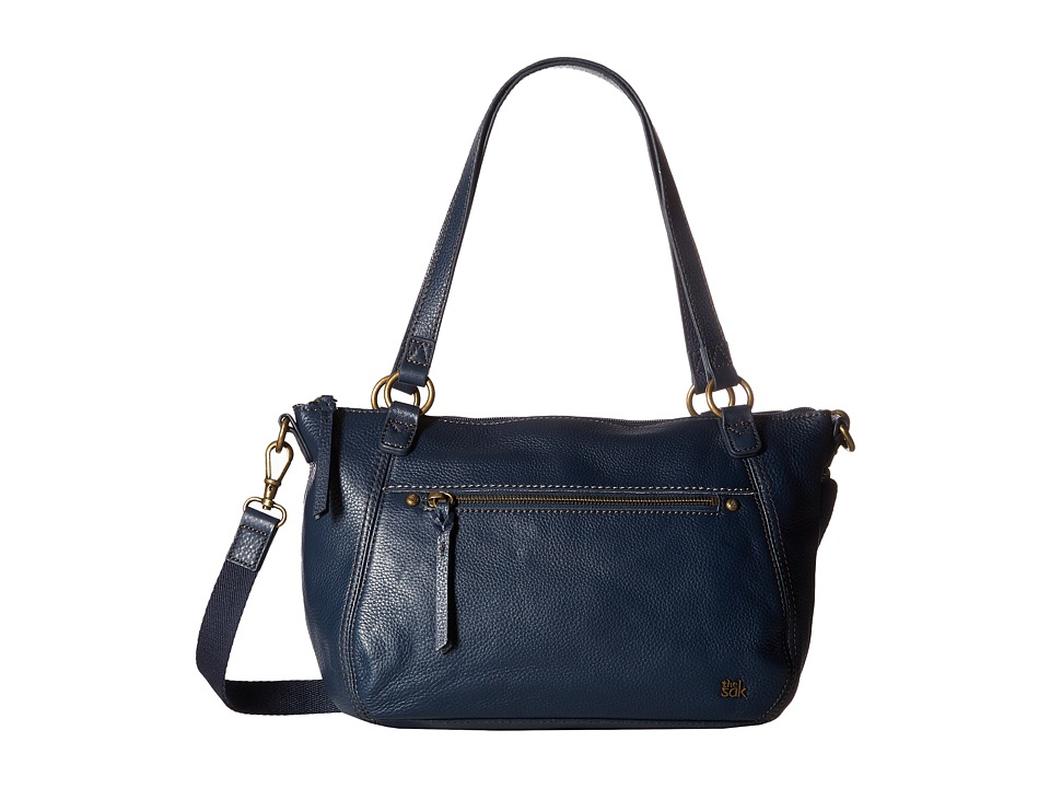 The Sak - Carson Leather Satchel (Indigo) Satchel Handbags