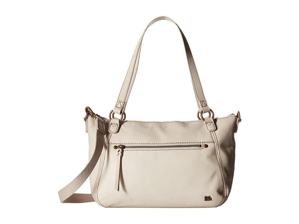 The Sak - Carson Leather Satchel (Stone) Satchel Handbags