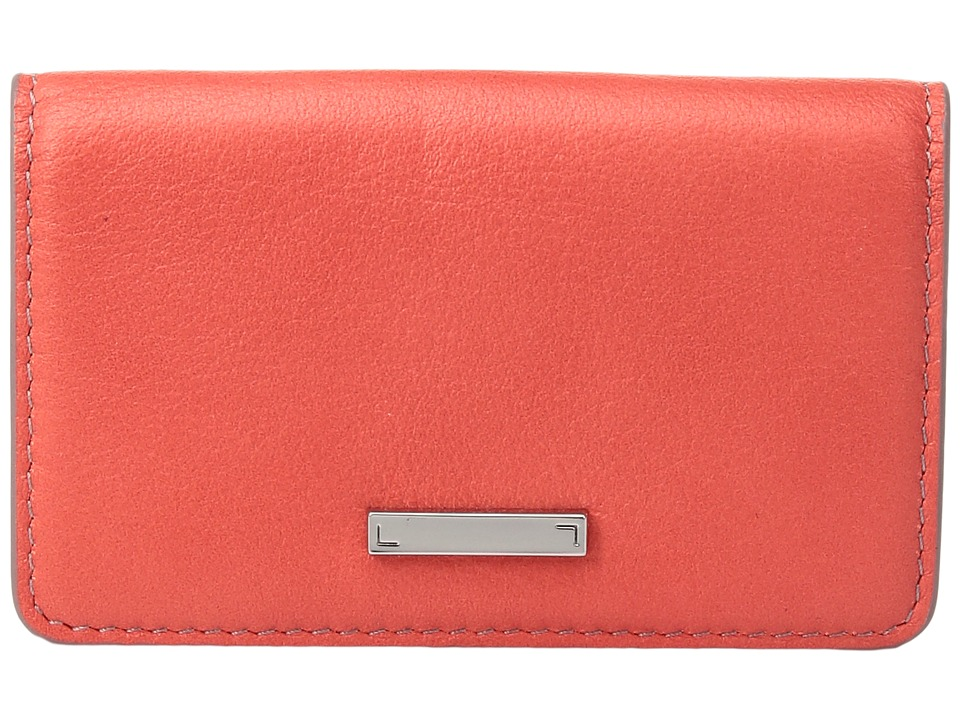 Lodis Accessories - Mill Valley Under Lock Key Mini Card Case (Coral) Credit card Wallet