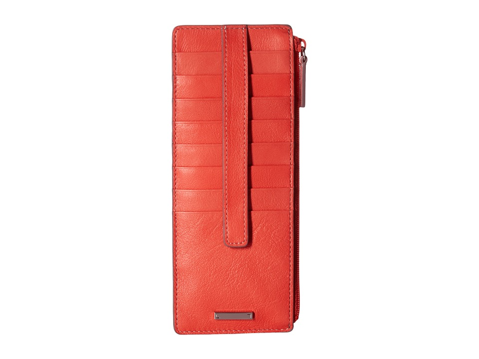 Lodis Accessories - Mill Valley Under Lock Key Credit Card Case with Zipper Pocket (Coral) Credit card Wallet