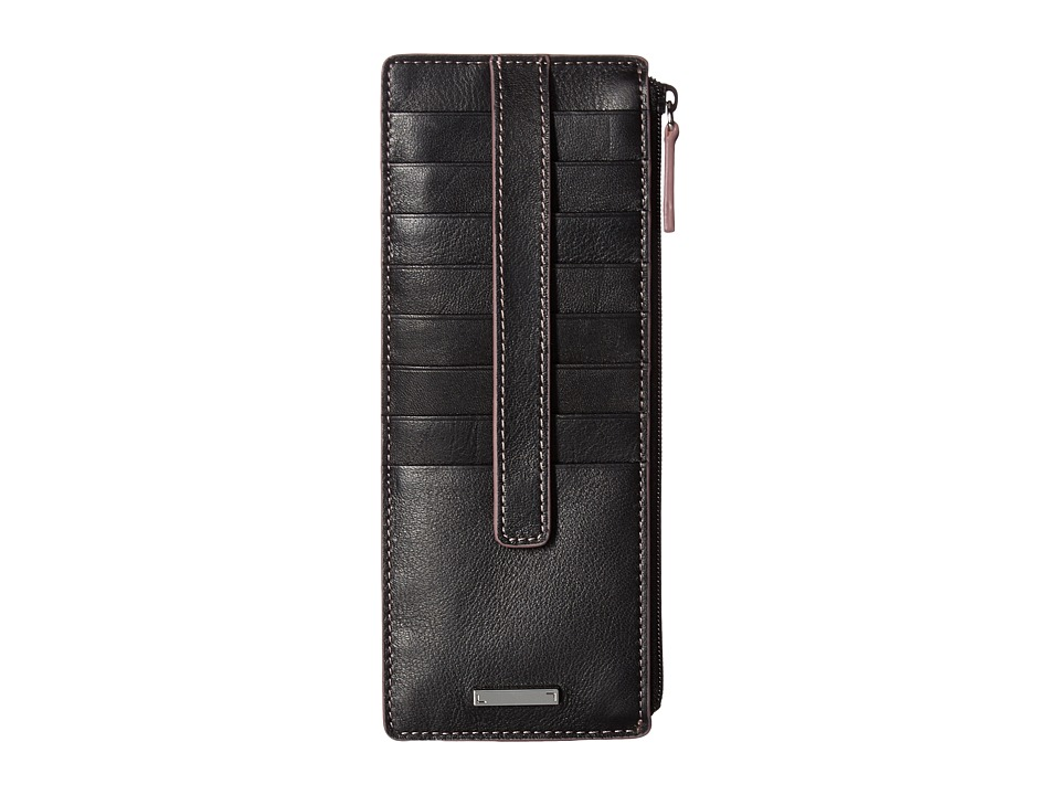 Lodis Accessories - Mill Valley Under Lock Key Credit Card Case with Zipper Pocket (Black) Credit card Wallet