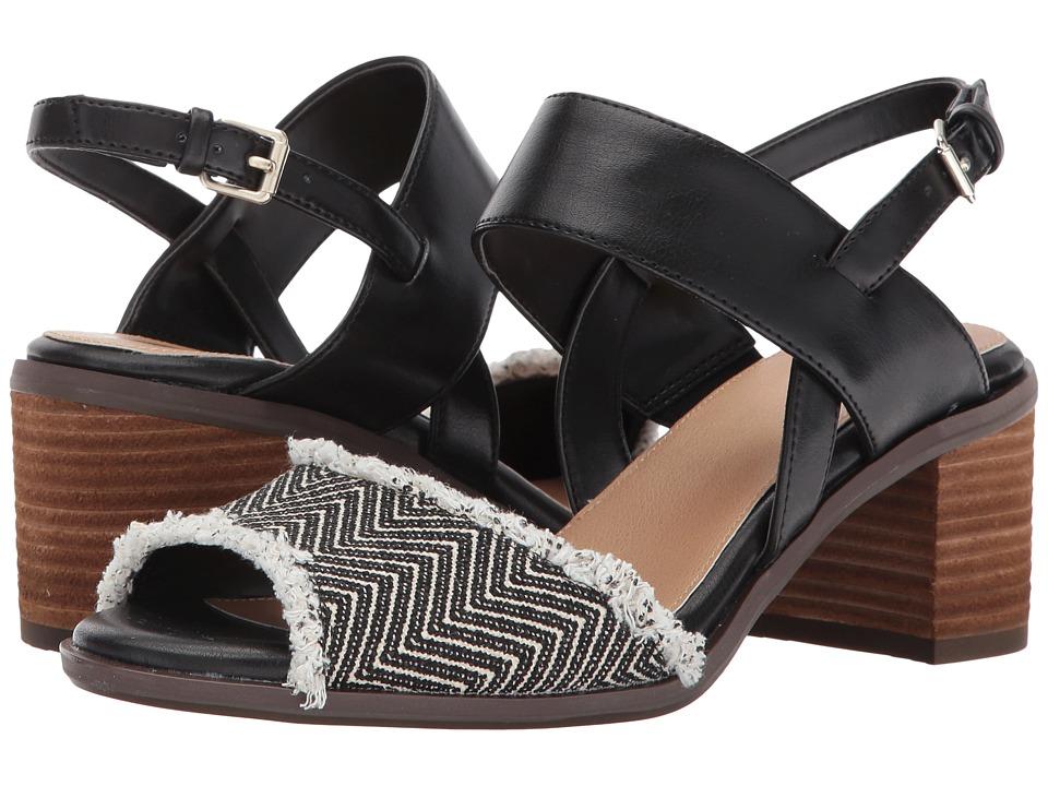 Dr. Scholl's - Skyline (Black/Raffia) Women's Shoes