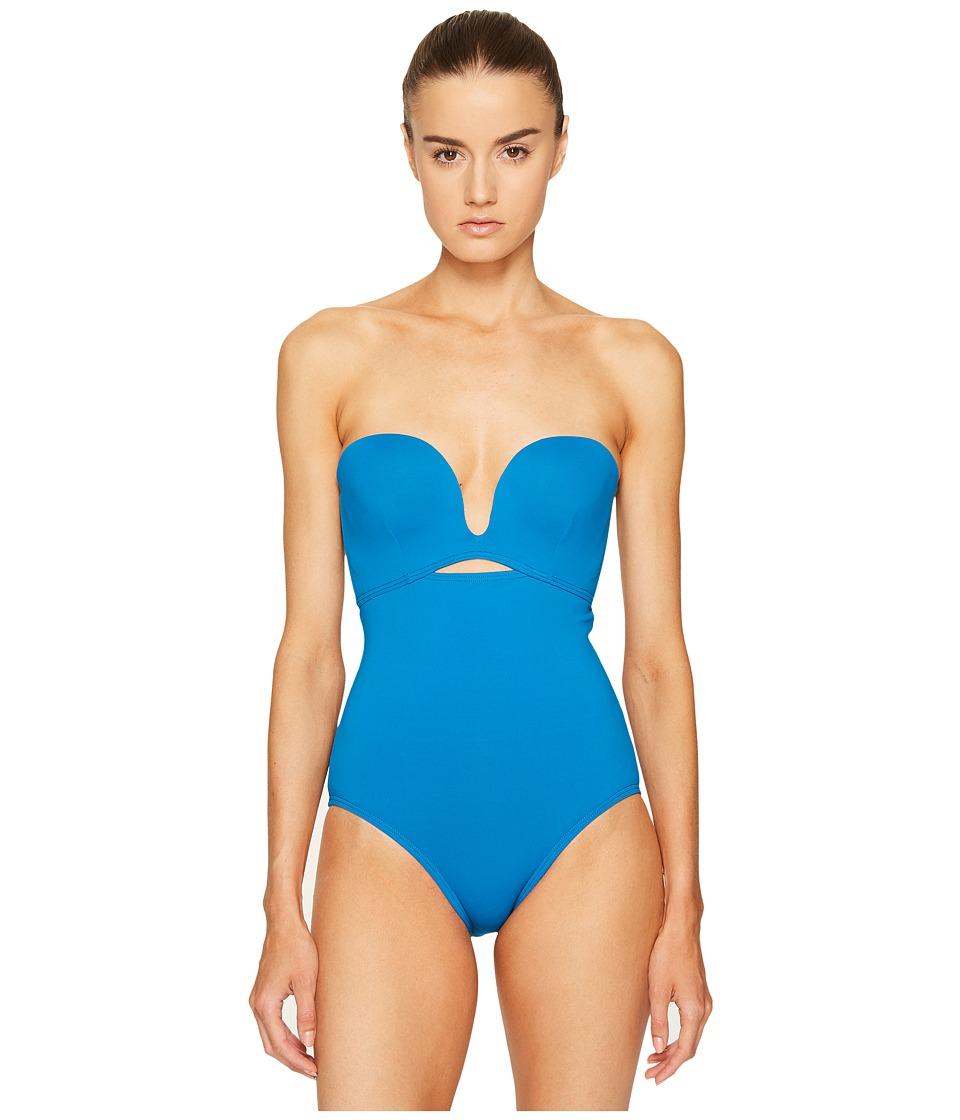Proenza Schouler - Solids Molded One-Piece Swimsuit (Mykonos Blue) Women's Swimsuits One Piece