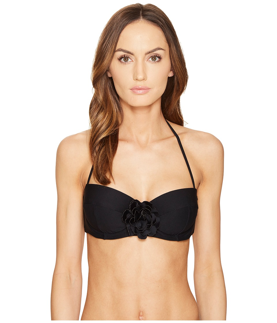 Kate Spade New York Pink Sands Beach #62 Underwire Bikini Top w/ Soft Cups (Black) Women
