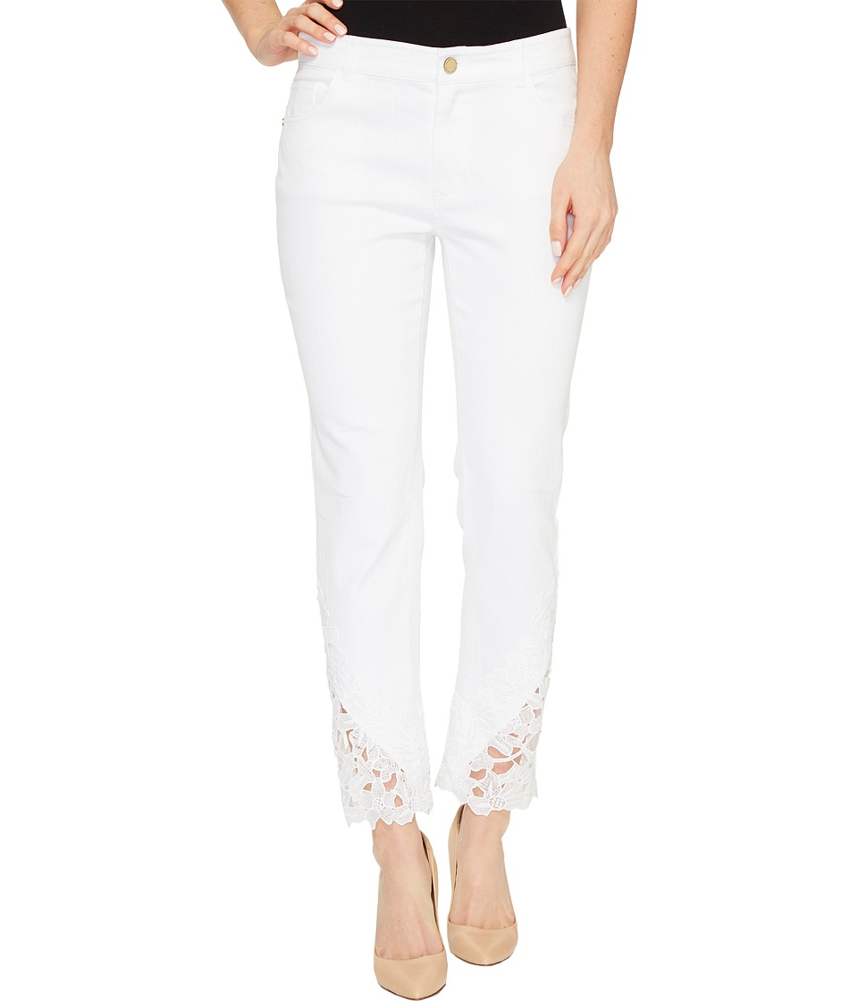 Ivanka Trump - Jean Pants with Lace Hem (White) Women's Jeans