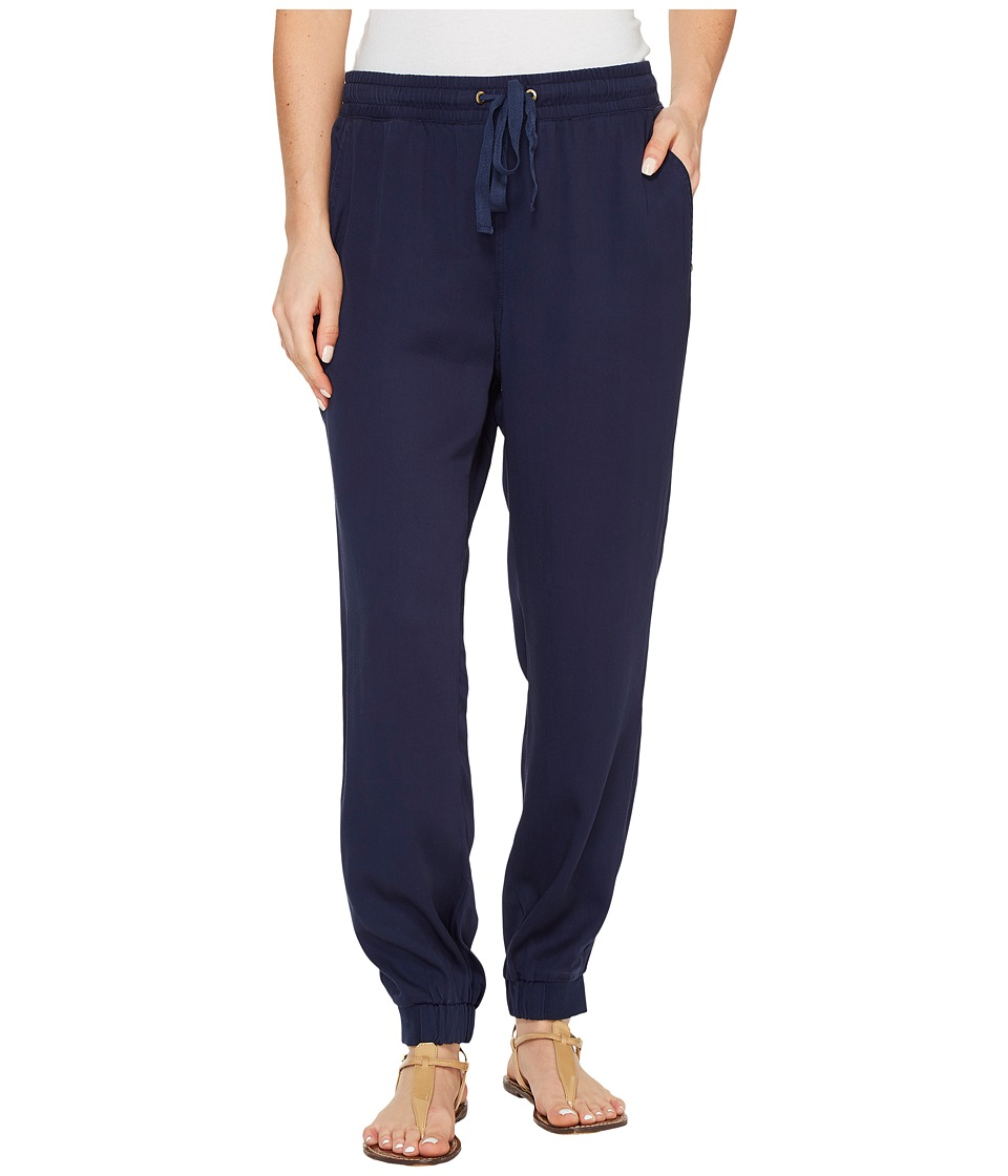 Ivanka Trump - Tencel Cuff Pants (Black Iris) Women's Casual Pants