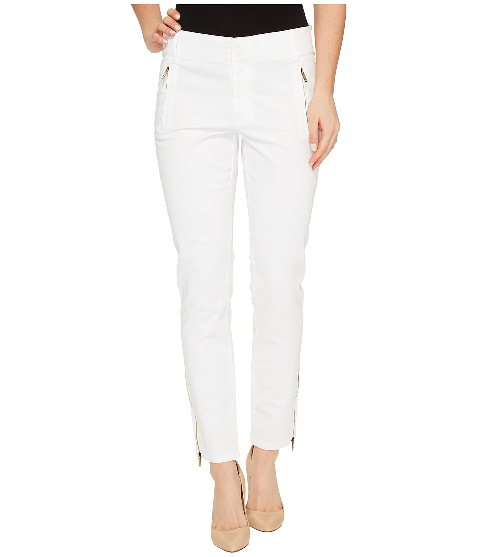 Ivanka Trump - Stretch Cotton Poplin Pants (White) Women's Casual Pants