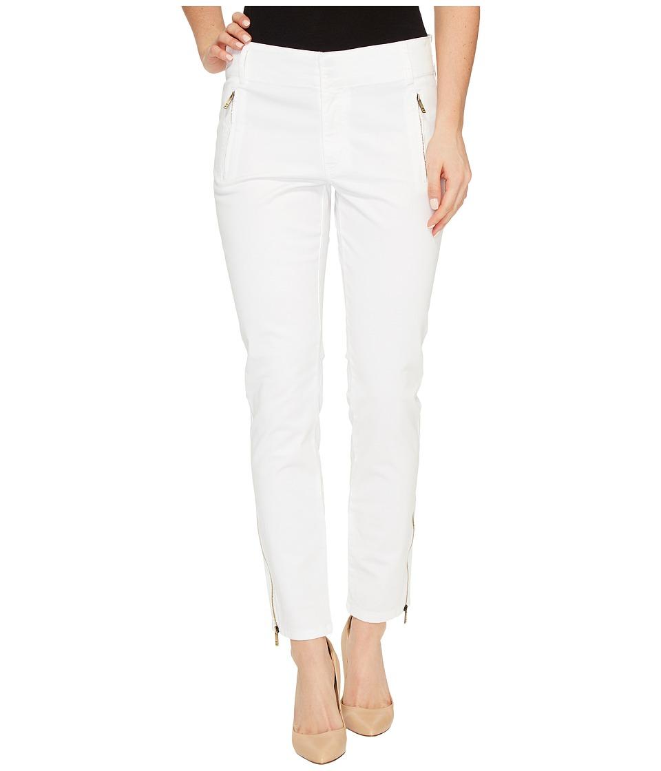 Ivanka Trump - Stretch Cotton Poplin Pants (White) Women's Casual Pants