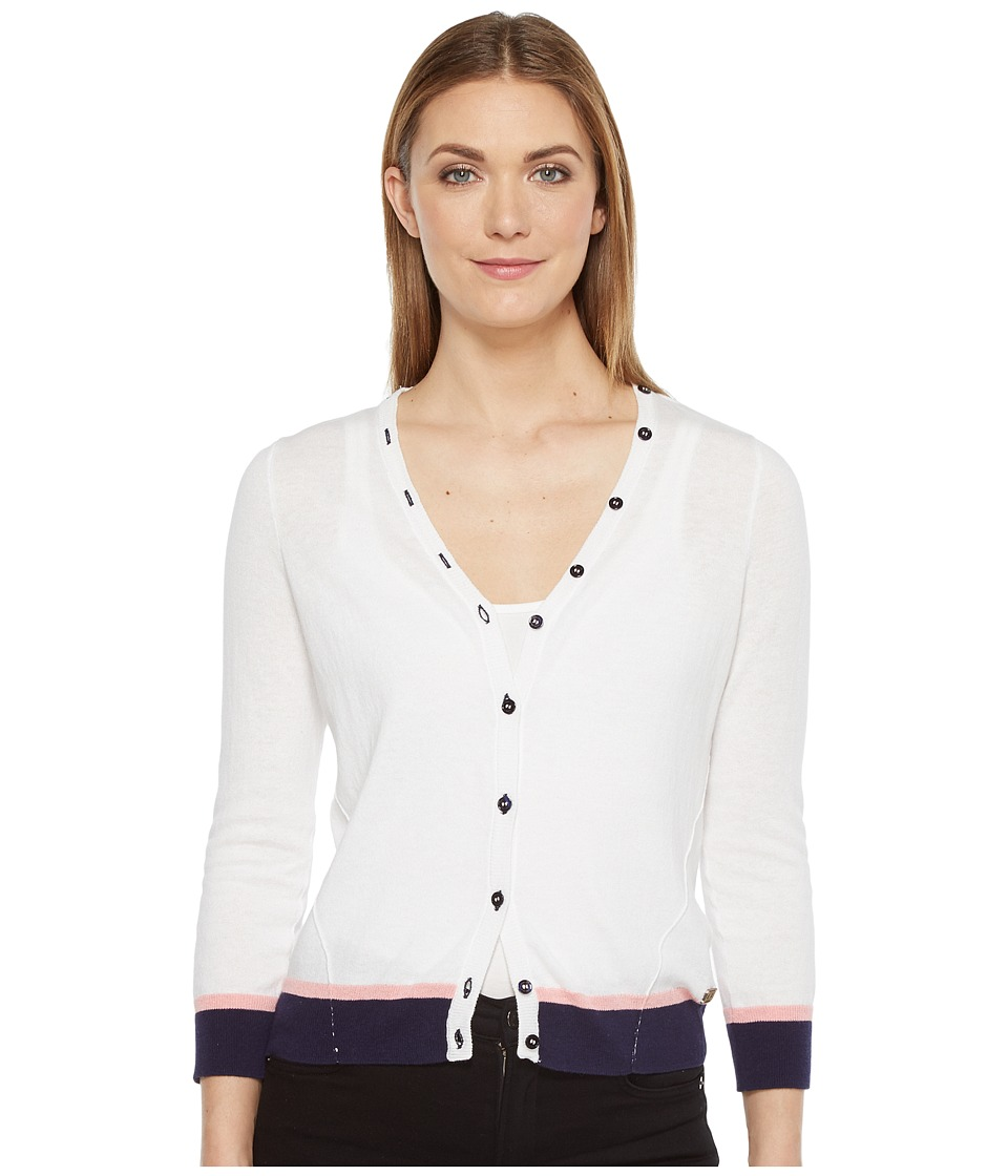 Ivanka Trump Button Front Sweater (White) Women