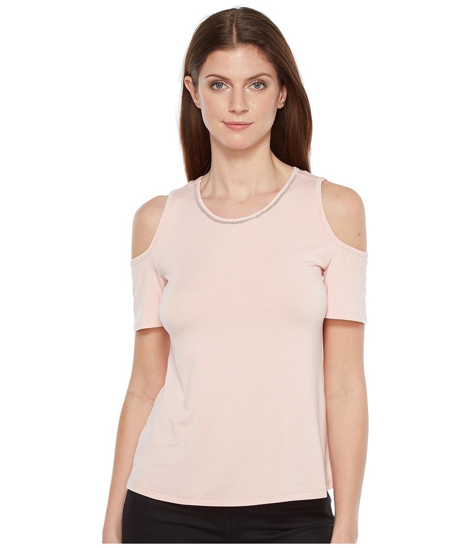 Ivanka Trump - Cold Shoulder Knit Top (Blush) Women's Clothing