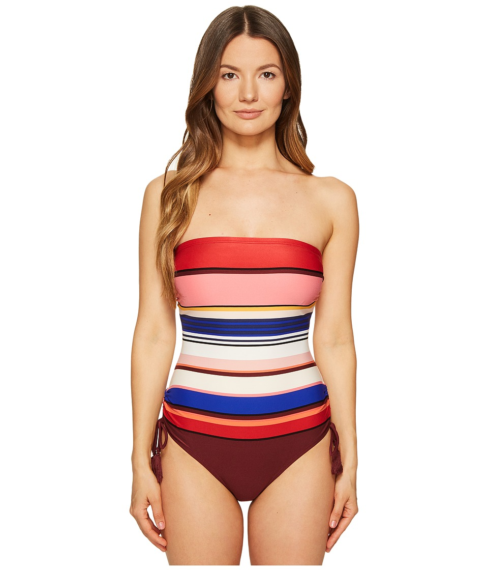 Kate Spade New York - Miramar Beach #59 Adjustable Bandeau One-Piece Swimsuit w/ Removable Soft Cups and Straps (Multi) Women's Swimsuits One Piece