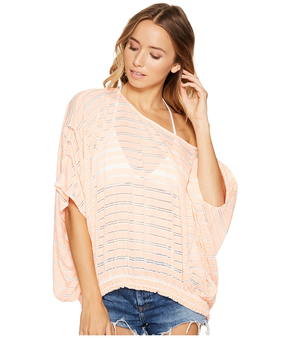 Free People - Azelea Top (Coral) Women's Clothing