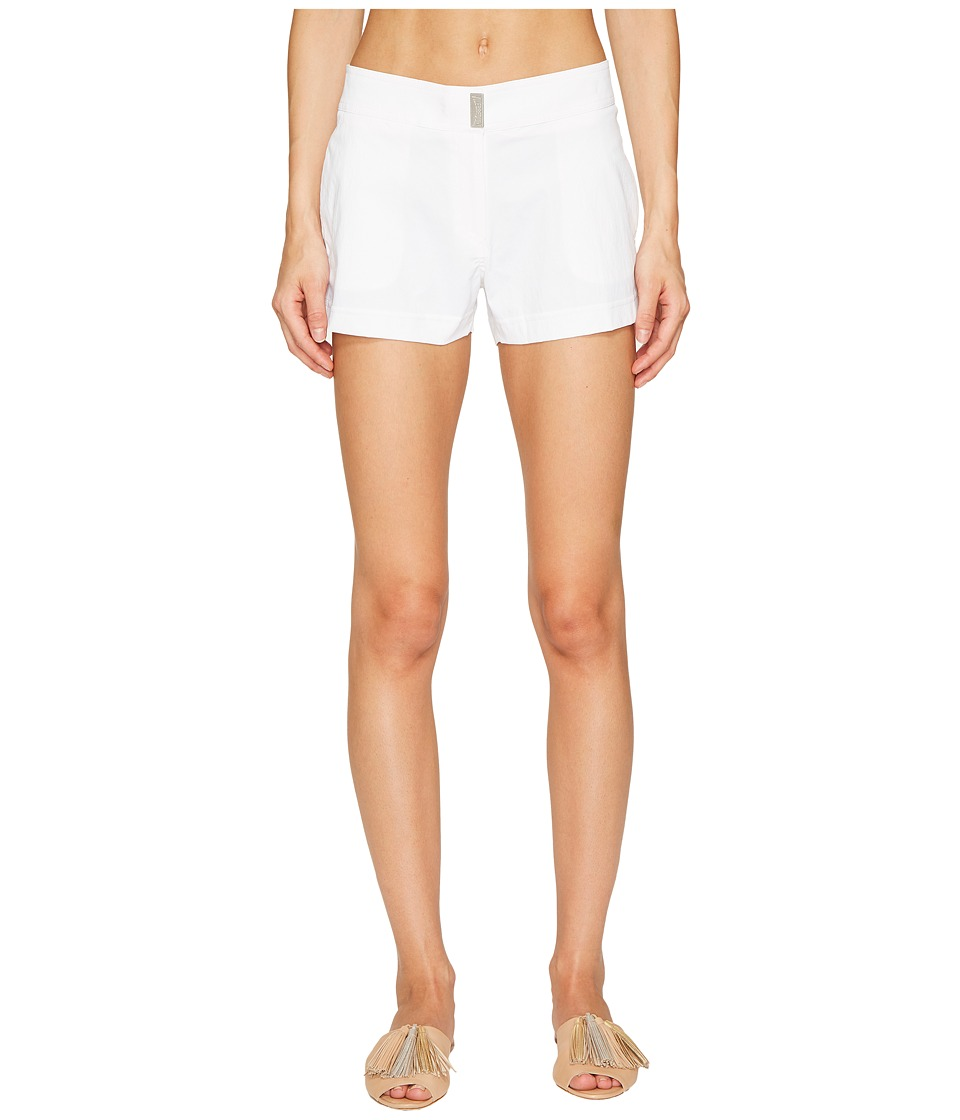 Vilebrequin - Superflex Solid Ferise Shorts (White) Women's Swimwear
