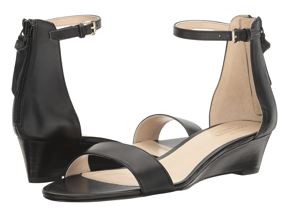 Cole Haan Adderly Wedge (Black Leather) Women