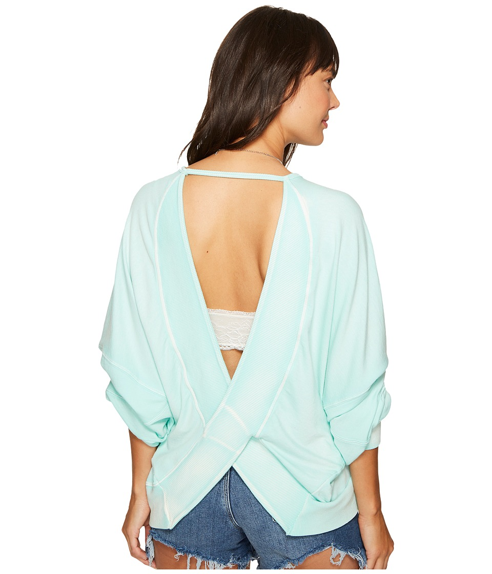 Free People - Back It Up Pullover (Mint) Women's Long Sleeve Pullover