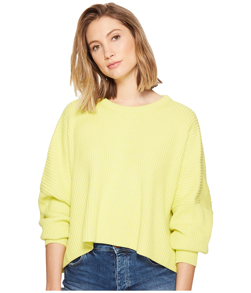 Free People - Festival Pier Pullover (Yellow) Women's Long Sleeve Button Up