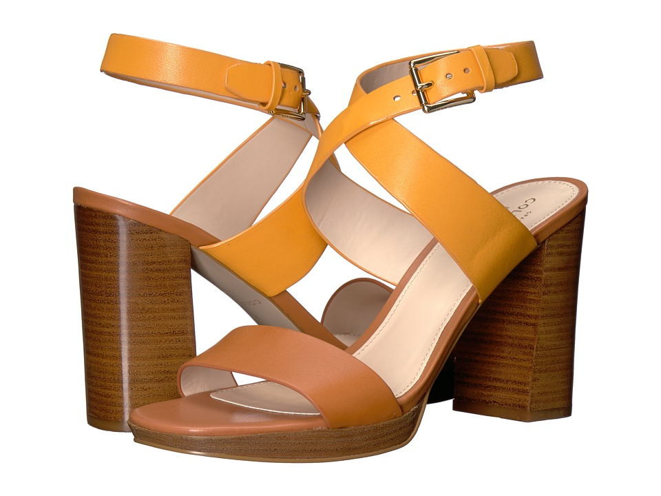 Cole Haan Fenley High Sandal (Sunglow Leather/British Tan Leather) Women
