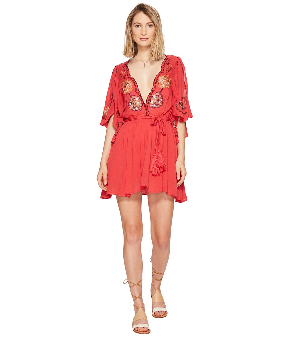 Free People - Cora Dress (Red) Women's Dress