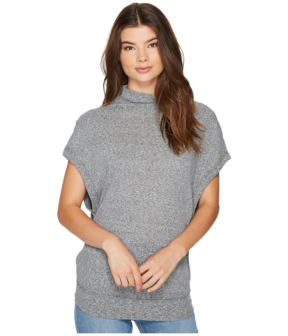 Free People - Madeline Top (Grey) Women's Clothing