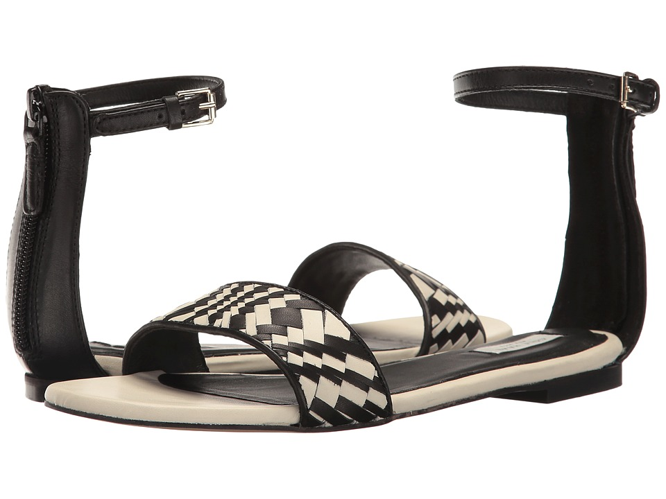 Cole Haan Genevieve Weave Sandal (Black Leather/Black/White Genevieve Weave) Women