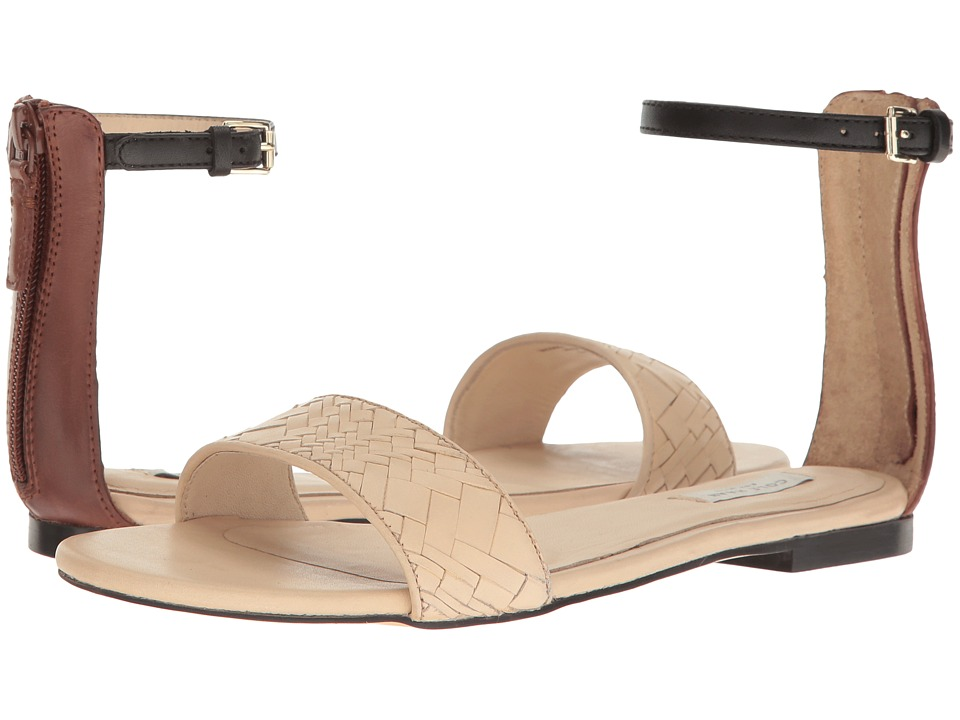 Cole Haan Genevieve Weave Sandal (Nude Genevieve Weave/Harvest Brown Leather) Women
