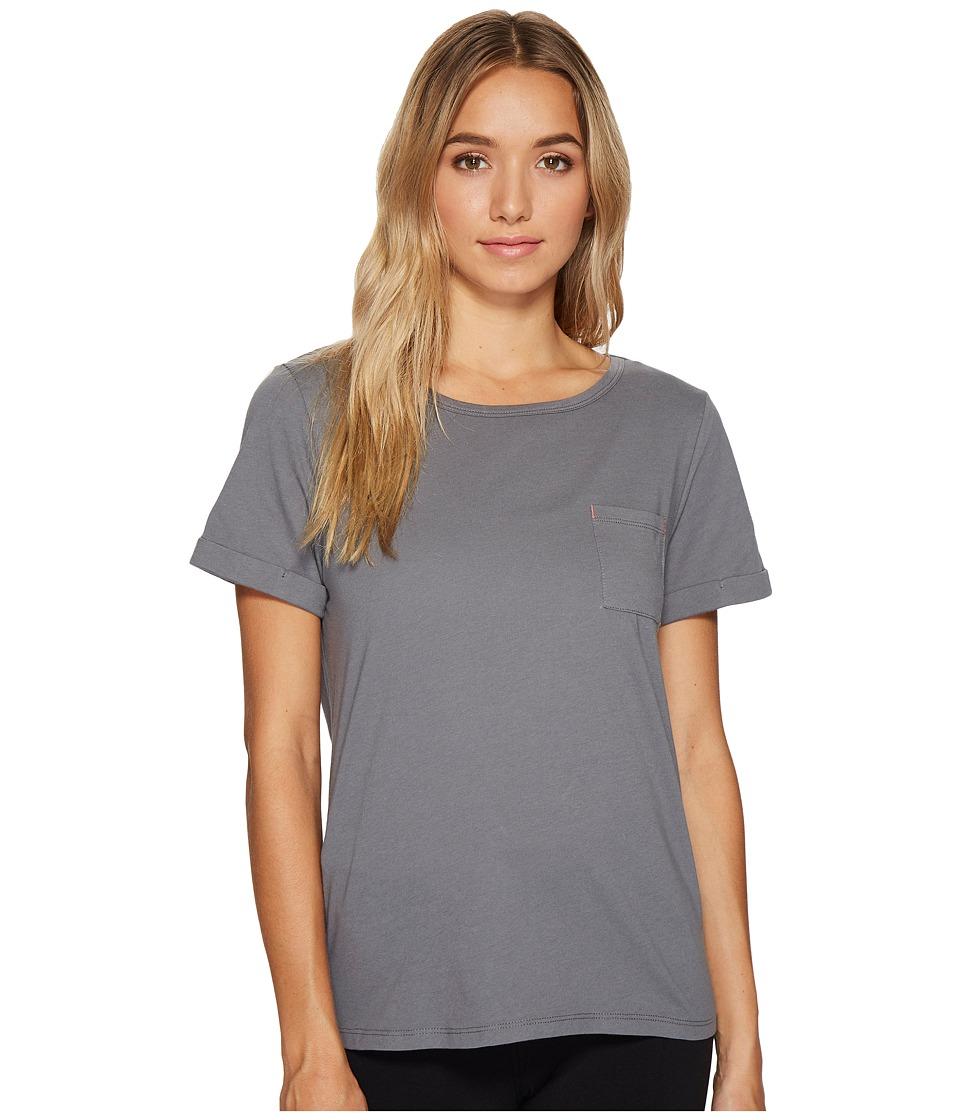 Jockey - Cotton Jersey Short Sleeve Top (Cinder) Women's Pajama