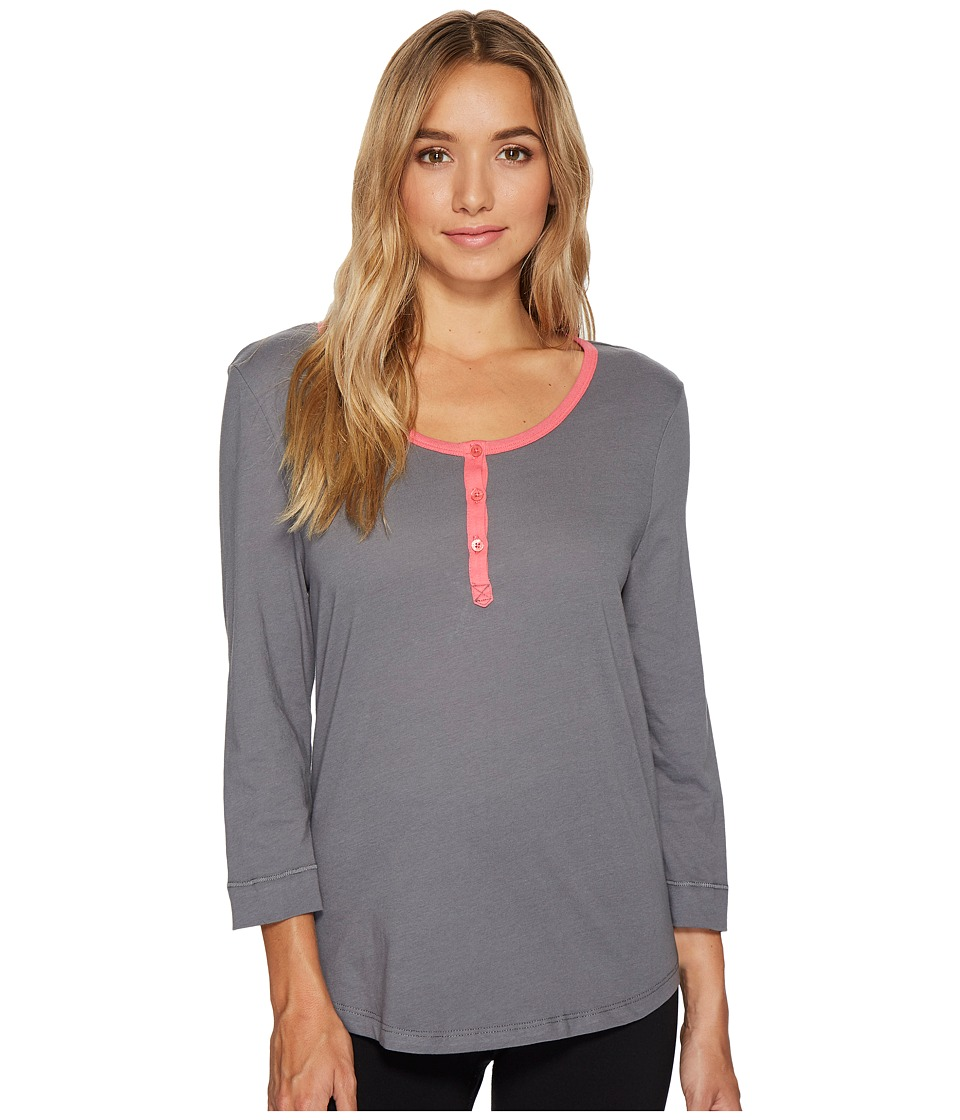 Jockey - Cotton Jersey 3/4 Sleeve Top (Cinder) Women's Pajama