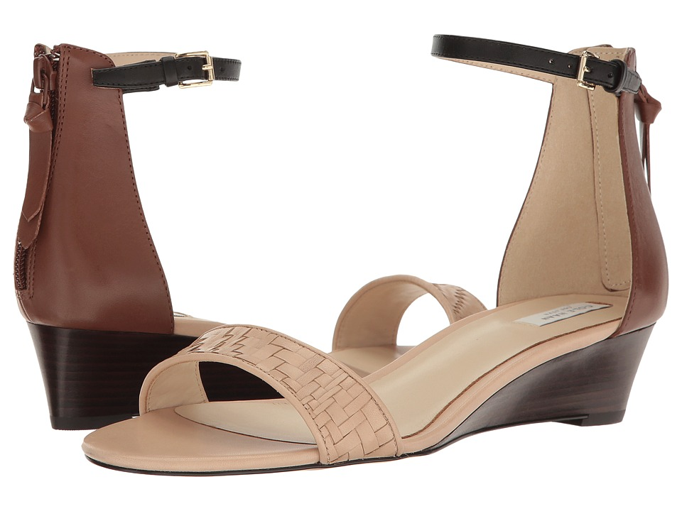 Cole Haan - Genevieve Weave Wedge (Nude Genevieve Weave/Harvest Brown Leather/Black Leather) Women's Shoes