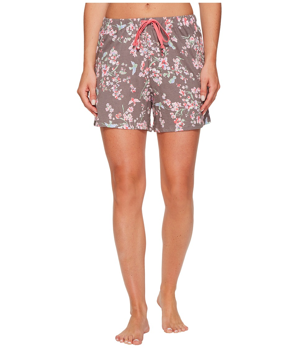 Jockey - Cotton Jersey Printed Boxer (Birds and Branches) Women's Pajama