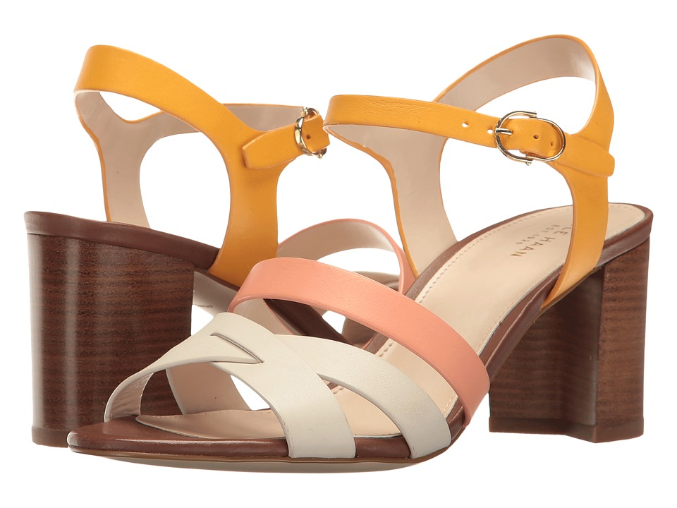Cole Haan Jianna Mid Sandal (Sunglow/Nectar/Ivory Leather) Women