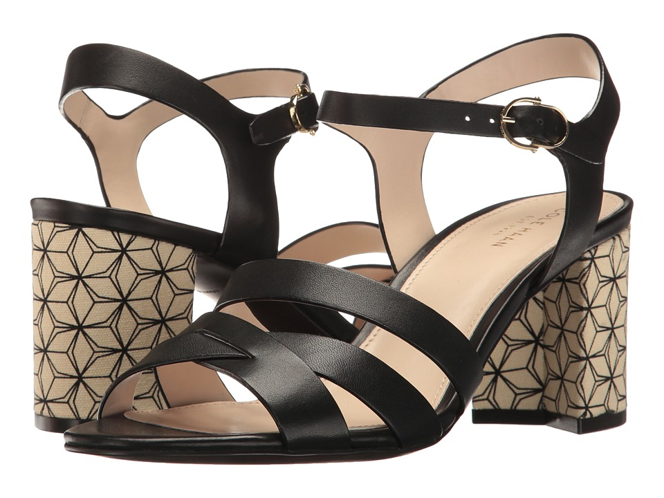 Cole Haan - Jianna Mid Sandal (Black Leather) Women's Shoes