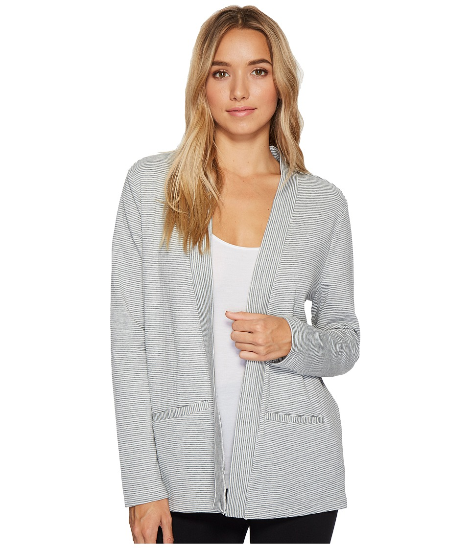 Jockey - Double Face Knit Cardigan (Reverse Stripe Cinder) Women's Pajama