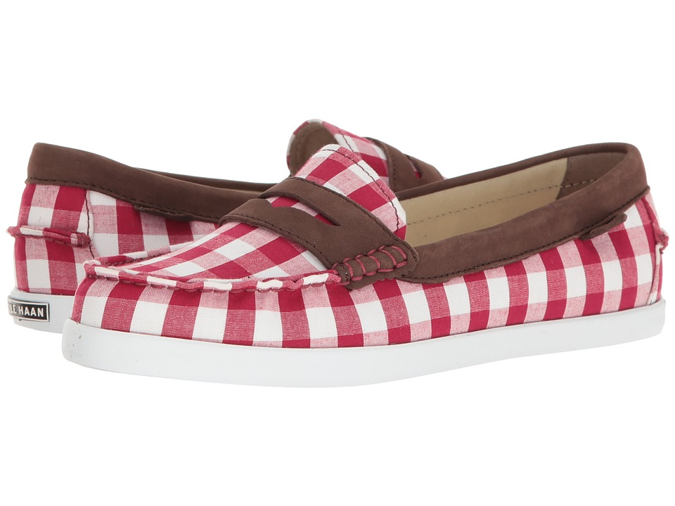 Cole Haan - Pinch Weeknder - Prep Prints (Red Gingham/Cabernet Nubuck) Women's Shoes