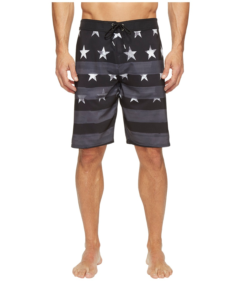 O'Neill - Hyperfreak Star Spangled Boardshorts (Black) Men's Swimwear