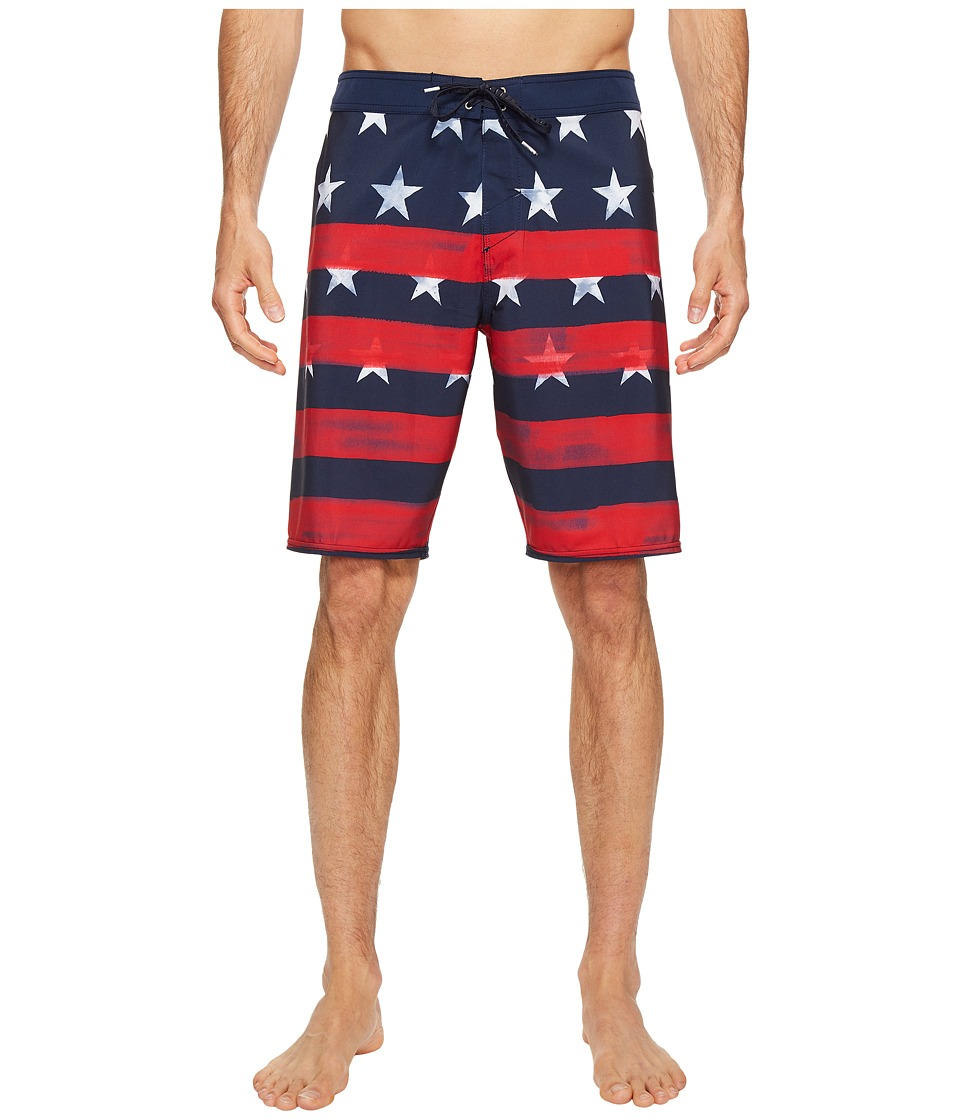 O'Neill - Hyperfreak Star Spangled Boardshorts (Red/White/Blue) Men's Swimwear