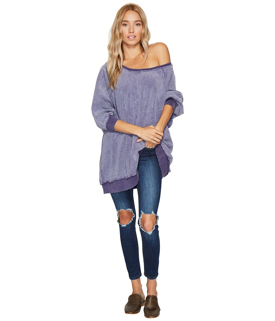 Free People - My Pullover (Plum) Women's Long Sleeve Pullover